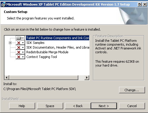 tablet pc software development kit install