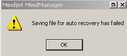 Saving File for Auto-recovery has failed
